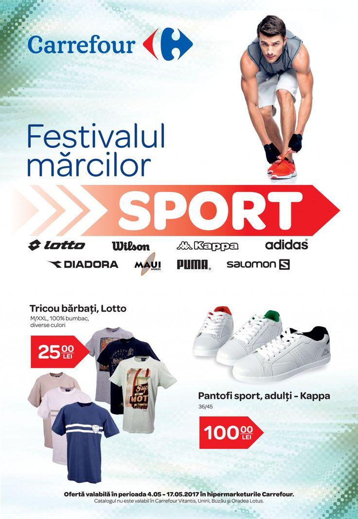Catalog Carrefour Festivalul Brandurilor de Sport 10 - 17 Mai 2017! Oferte si recomandari: Kappa tricouri barbati 100% bumbac 45,00 lei; sort barbati 45 lei