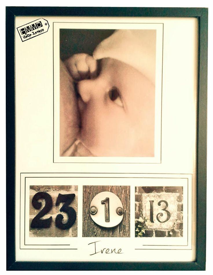 Cuadros de bebés con fecha de nacimiento. Cuadros de boda con fecha del enlace. Regalos con encanto, especiales, aniversario, románticos. regalo, cuadro, marco, bebé, boda, vintage, especial, amor, fecha, foto, gift, frame, picture, photo, baby, wedding, special, love, date, romantic, wall, pared, colgar, HMMD, Handmademaniadecor