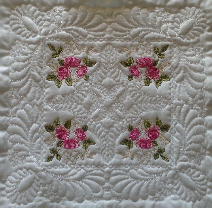 "EW015–Royal English Roses Large Quilt Blocks 6""x 6"
