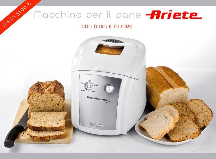 Pane Express Metal, macchina per il pane di ARIETE!  #cucina #macchinaperilpane #bread #panecaldo #appenasfornato #sconto #ricette