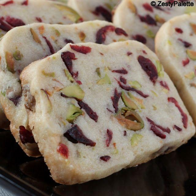 Cranberry Pistachio Shortbread | Cooks Joy