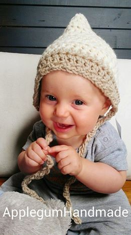 Pixie Hat/Baby Photo Props Crocheted by ApplegumHandmade on Etsy