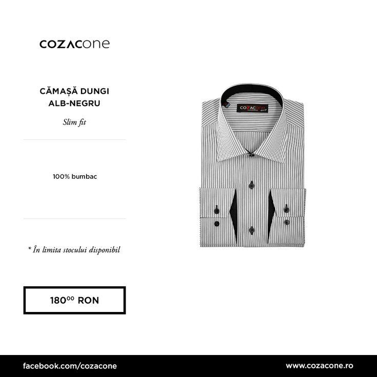 O cămaşă cu dungi e o piesă versatilă a stilului smart sau business casual: http://www.cozacone.ro/produse/detalii/camasa-dungi-alb-negru/