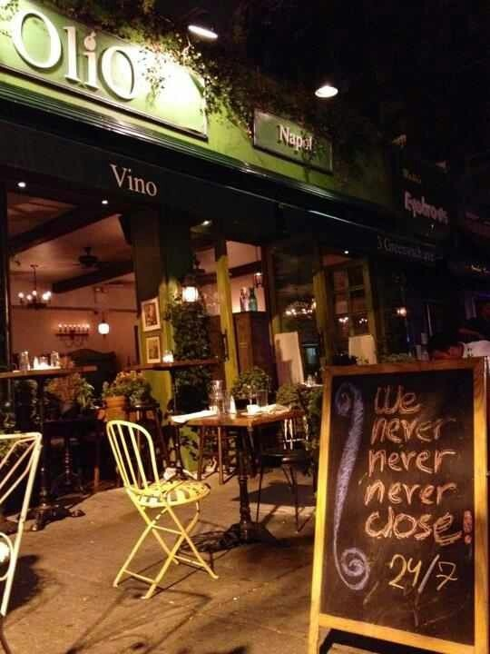 Olio E Piú Italian Restaurant West Village Ny New York Cafe Bar