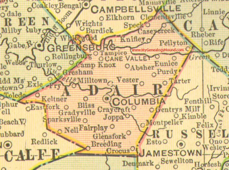 Best Vintage Kentucky County Maps Images On Pinterest - Us map 1905