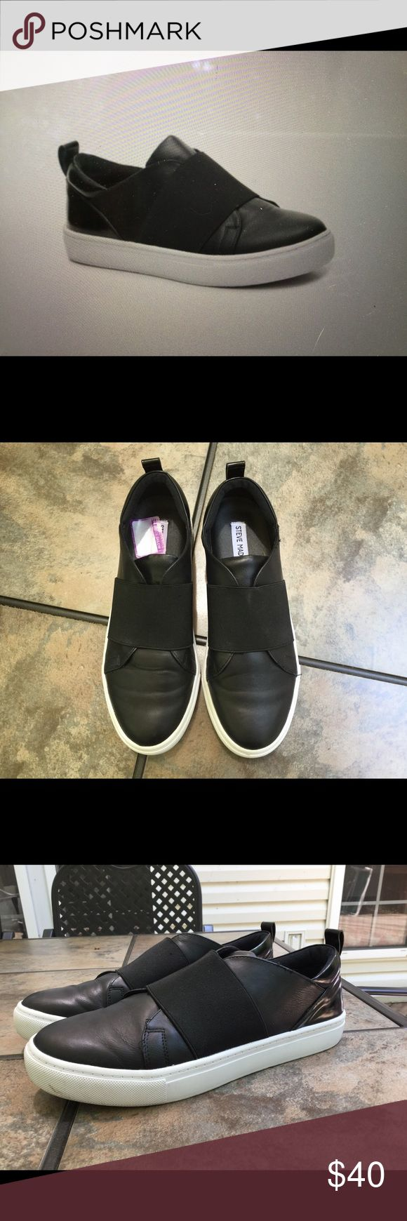 Steve Madden Enderson slip on, Size: 9 Solid weight, barely worn, athleisure trend at its best! Steve Madden Shoes Sneakers