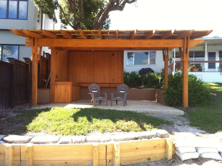 Cypress Pergola with a metal roof. Designed and built by FineWood Studio. - 15 Best FineWood Studio - Our Business Images On Pinterest