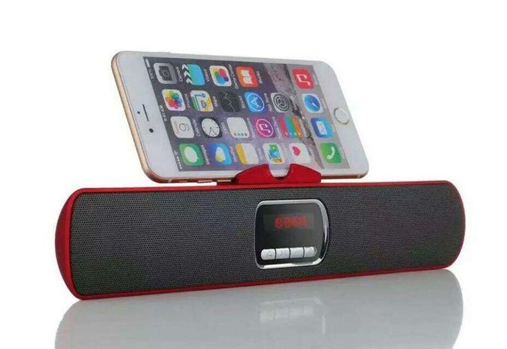 Altavoz Portátil Inalámbrico Bluetooth Con Soporte Para Móviles Radio y Batería Interna modelo 10606 - Altavoz Portátil Inalámbrico Bluetooth Con Soporte Para Móviles Radio y Batería Interna  Podrás escuchar toda tu música sin necesidad de cables y en cualquier lugar, conecta todos tus dispositivos al Altavoz con Bluetooth fácilmente y comienza a divertirte. Compatible con iPhone, iPad, Móv... - http://buscacomercio.es/producto/altavoz-portatil-inalambrico
