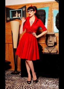 Vintage Dresses | Pinup Girl Clothing: Dead Dame, Glamorous Dresses, Red Dresses, Haunted Housewife, Pinup Girls, Girls Clothing, Holidays Dresses, Housewife Dresses, Pin Up