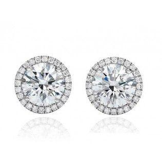 Cercei Diamonds Halo One & Two Borealy http://www.borealy.ro/bijuterii/cercei/cercei-one-two-made-with-swarovski-elements.html