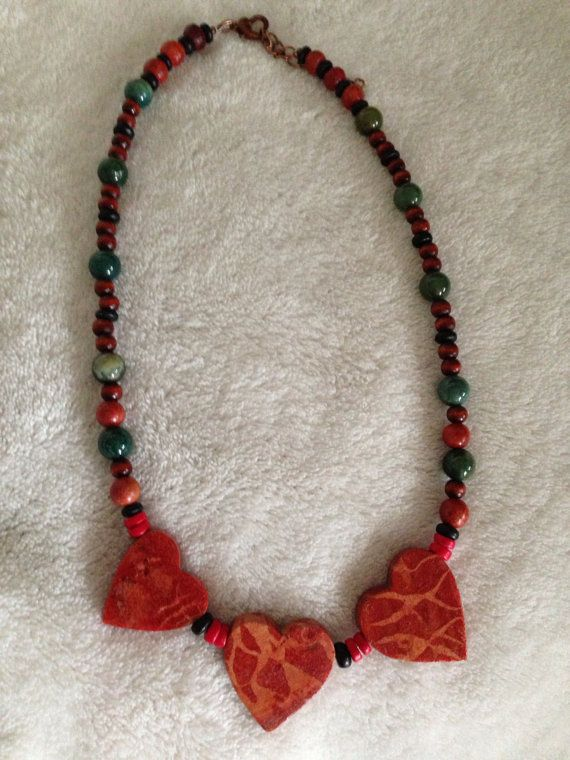 Wooden Heart Healing Necklace on Etsy, $41.00 CAD