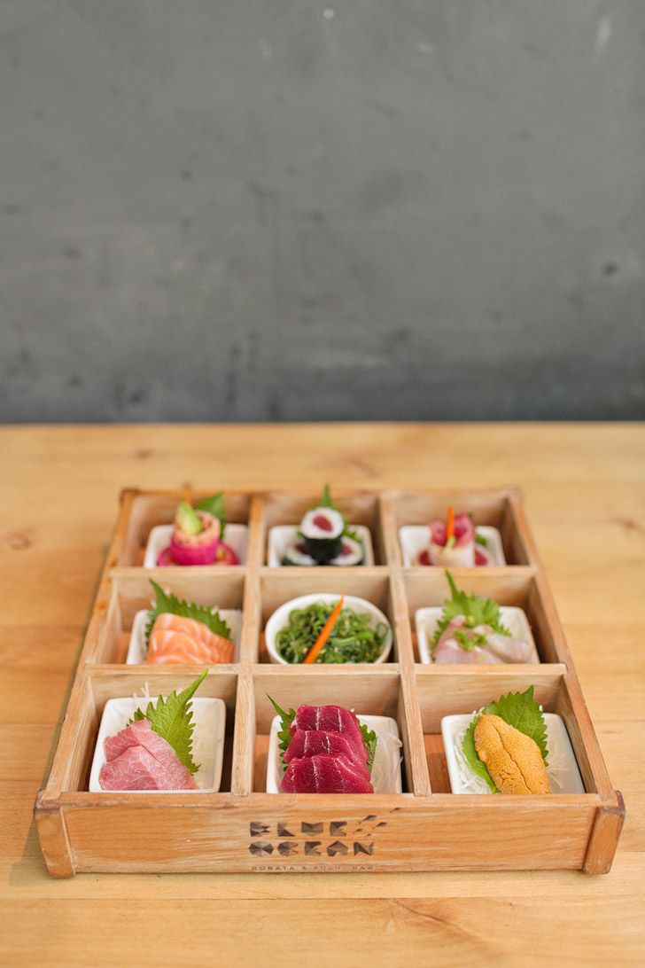 Omakase Box at Blue Ocean Carlsbad - Fresh Sushi in San Diego County // localadventurer.com