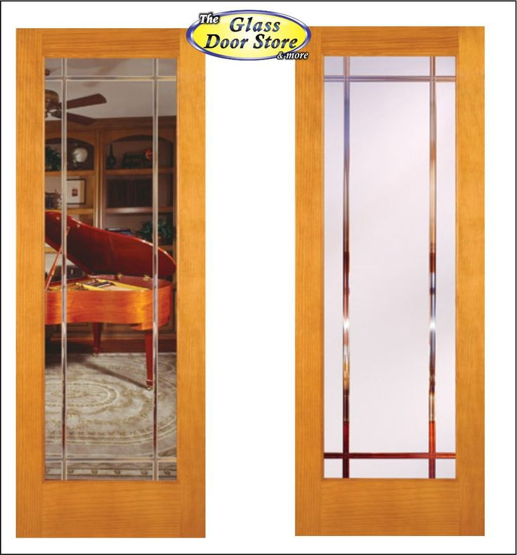 Clear Or Frosted Options In Interior Glass Doors. V Grooved Shown In Pine  Stainable Door