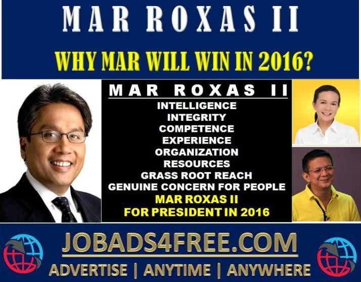 Why Mar Roxas II will win in 2016