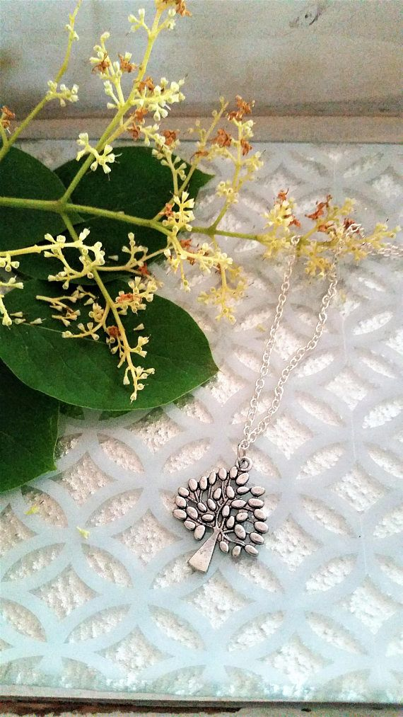 Tree charm necklace  tree/nature/leaves pendant necklace