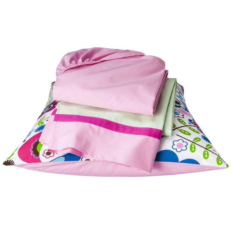 Bacati Toddler Sheet Set - Botanical Pink