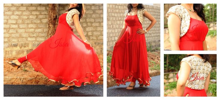 Red hot in evening dress
