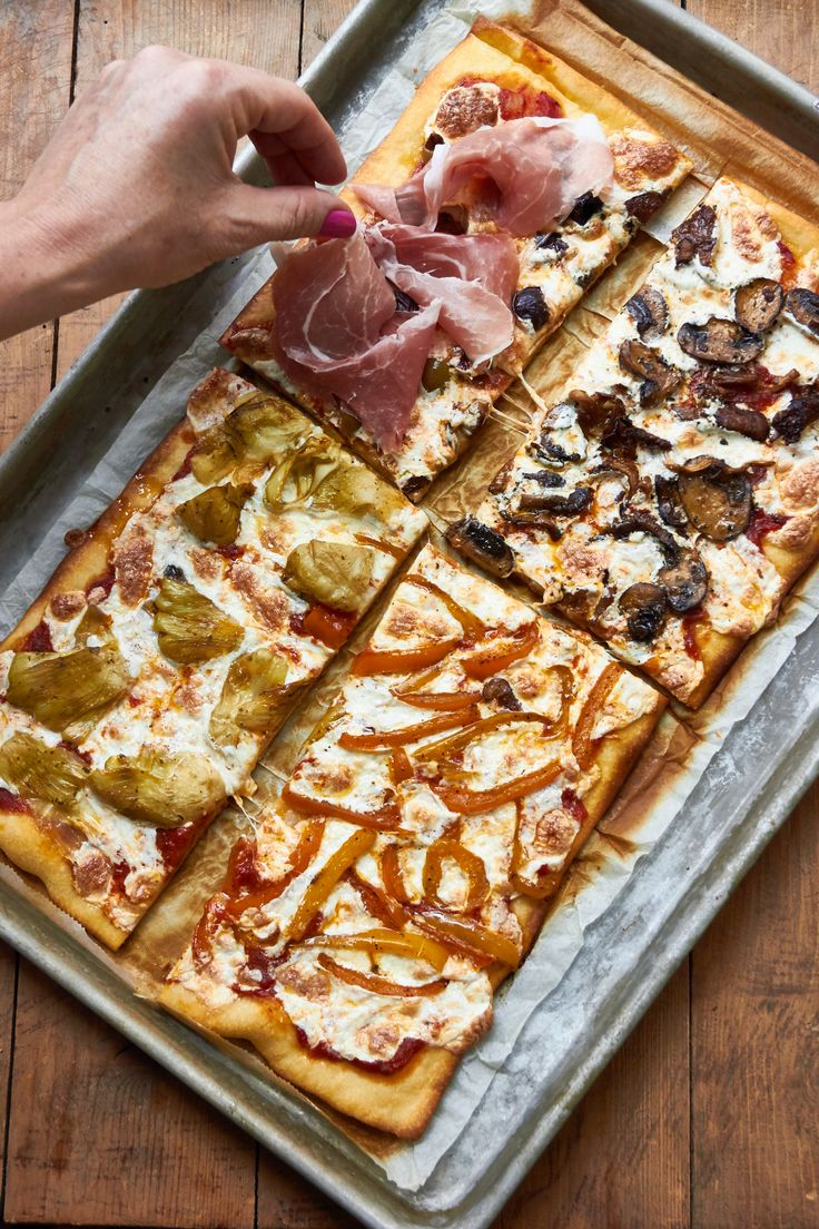 Pizza Quattro Stagioni literally means four seasons pizza. It is divided into quadrants, with the toppings on each quarter representing each season.