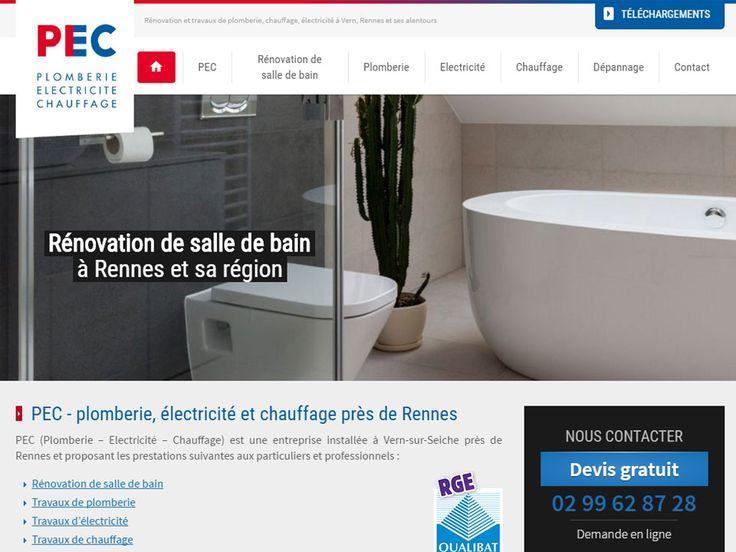 PEC (Plomberie - Electricité - Chauffage) est le spécialiste en rénovation de salle de bain, travaux de plomberie, travaux d'électricité, travaux de chauffage et dépannage à Rennes, Vern et ses alentours.