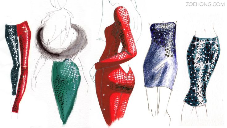 Fashion Illustration Tutorial: Pearls & Beading by Zoe Hong - Drawing Technique