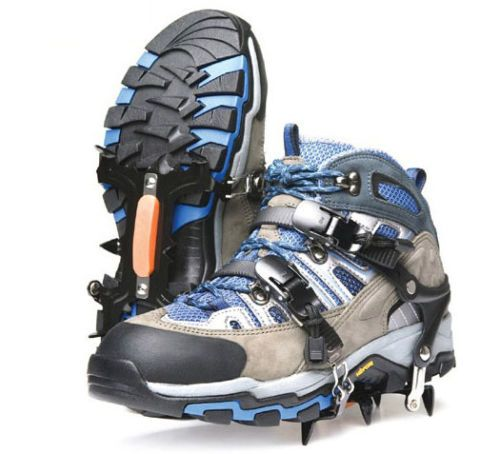 Snow 6Pin Shoe Crampons Chain Spike Ice Snow Pad mounting Outdoor Ice Climbing