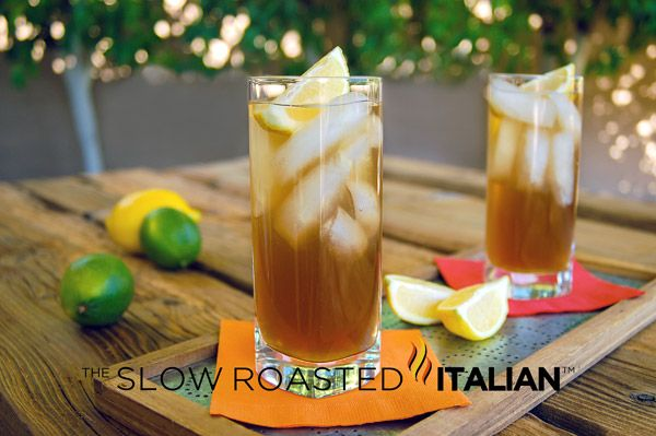 The Slow Roasted Italian: Classic Long Island Iced Tea - One of the top 5 requested cocktails in the world; the Long Island Iced Tea, is made with 5 spirits and actually tastes like sweet iced tea.
