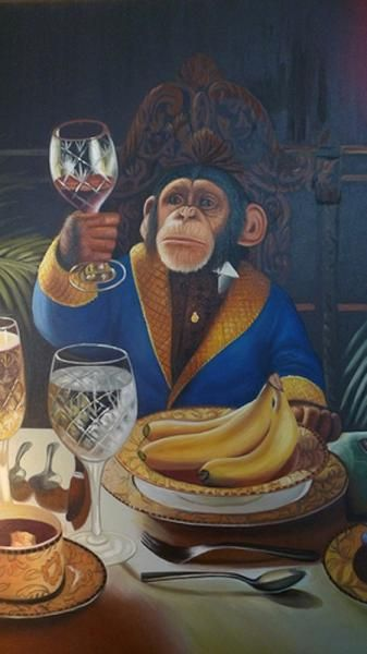 I want to live in a world where chimps are the most discerning wine connoisseurs. THIS: by Donald Roller Wilson