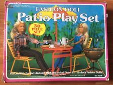 Wonderful Vintage 1985 Barbie U0026 Other Fashion Doll Pepsi Patio Playset By Arco