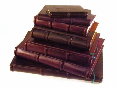 old leather journals