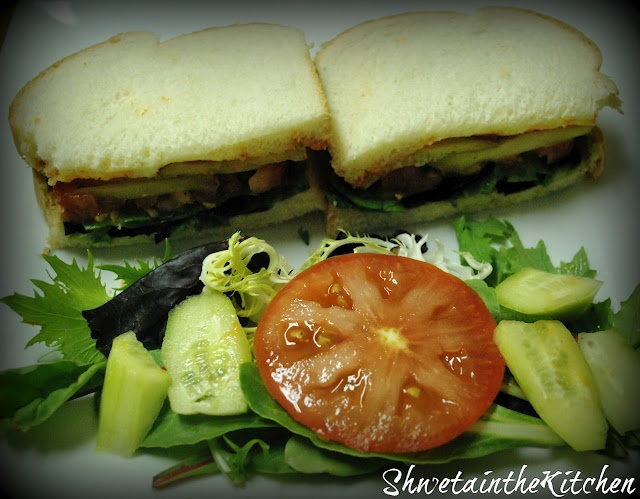 I don't know why this sounds so good to me.Tomato, Cucumber & Lettuce Sandwich. I would add TJs Wasabi Mayo as a condiment