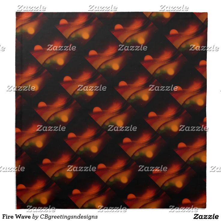 Fire Wave Cloth Napkin