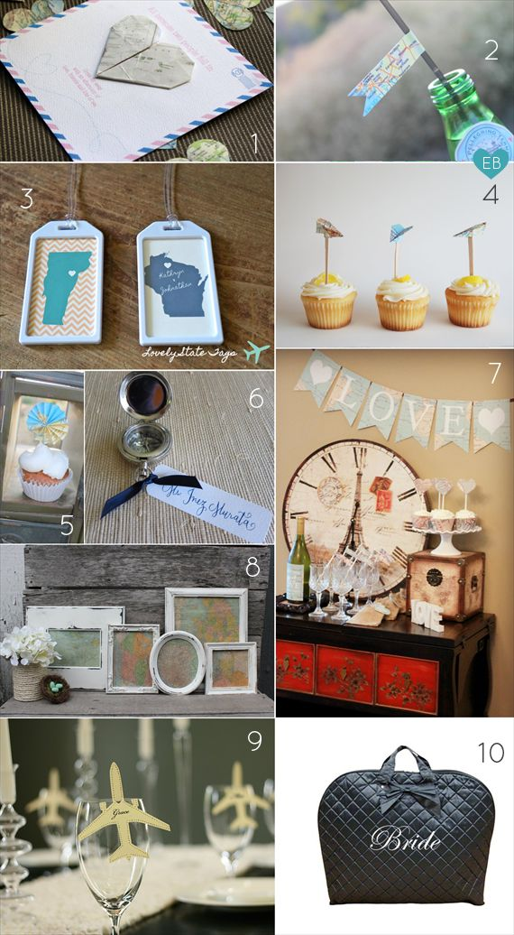 planning a bridal shower travel theme
