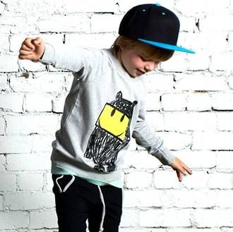 #minti #newseason Minti Happy Monster Summer Crew - Grey Marle Preorders now open at www.ragamuffins.co.nz