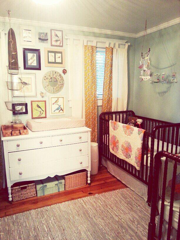 Vintage-inspired twins nursery