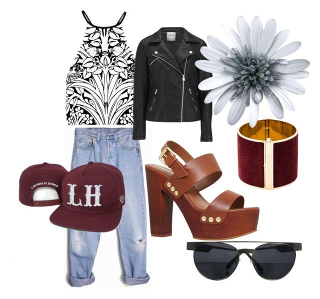 last summer days by anulinka on Polyvore featuring Alice McCall, ONLY, Levi's, Miss KG and Dsquared2