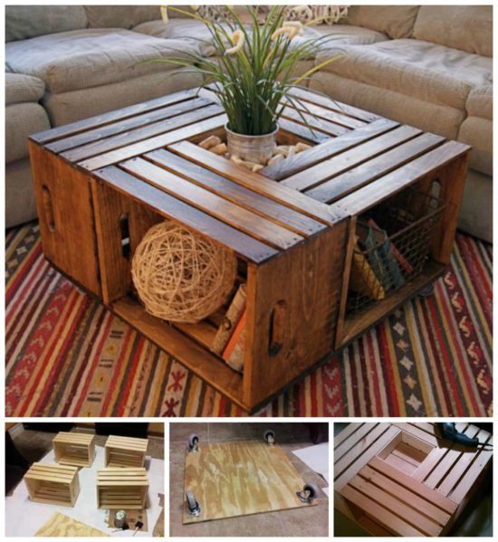 Crate Table Diy Interiors Design