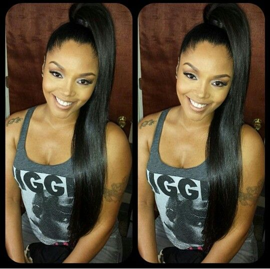 Love her hair,straight #hairextensions. http://www.vanglamhairextensions.com/collections/clip-in-hair-extenstions