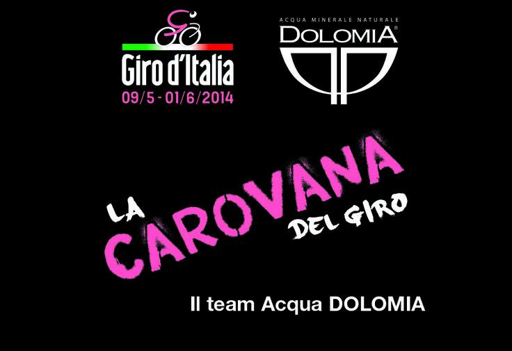La Carovana del Giro, il Team Acqua Dolomia.