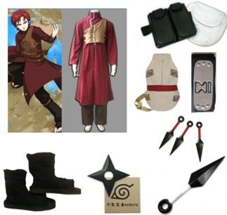 87.9$  Watch more here - Cosplay Costume Naruto Shippuden Gaara Red Complete Set With Bag Halloween Christmas Party Uniform Dress Men's Cosplay Dress   #magazine