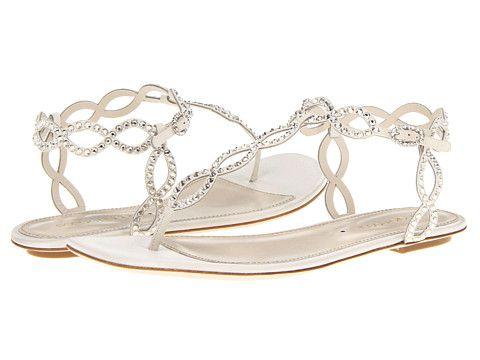 Sergio Rossi Satin Mermaid Flat Sandal Ivory - Zappos.com Free Shipping BOTH Ways