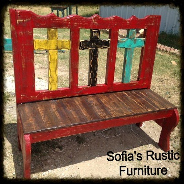 Sofiau0027s Rustic Furniture: Cross Bench. Would Be So Cute On The Porch Or In