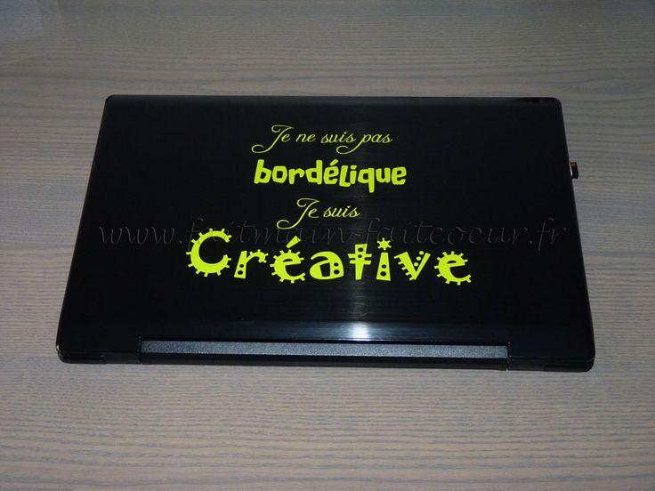 Sticker citation ordinateur portable (laptop quote decal)