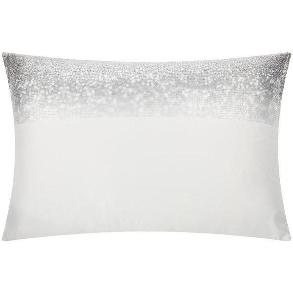 Kylie Minogue at Home Glitter Fade Pillowcase - Silver - 50x75cm ($34) ❤ liked on Polyvore featuring home, bed & bath, bedding, bed sheets, silver, glitter bedding and kylie minogue at home