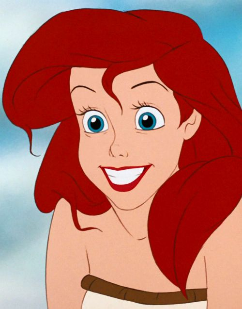Ariel with one of the funniest faces when she becomes human. Best funny face on a princess