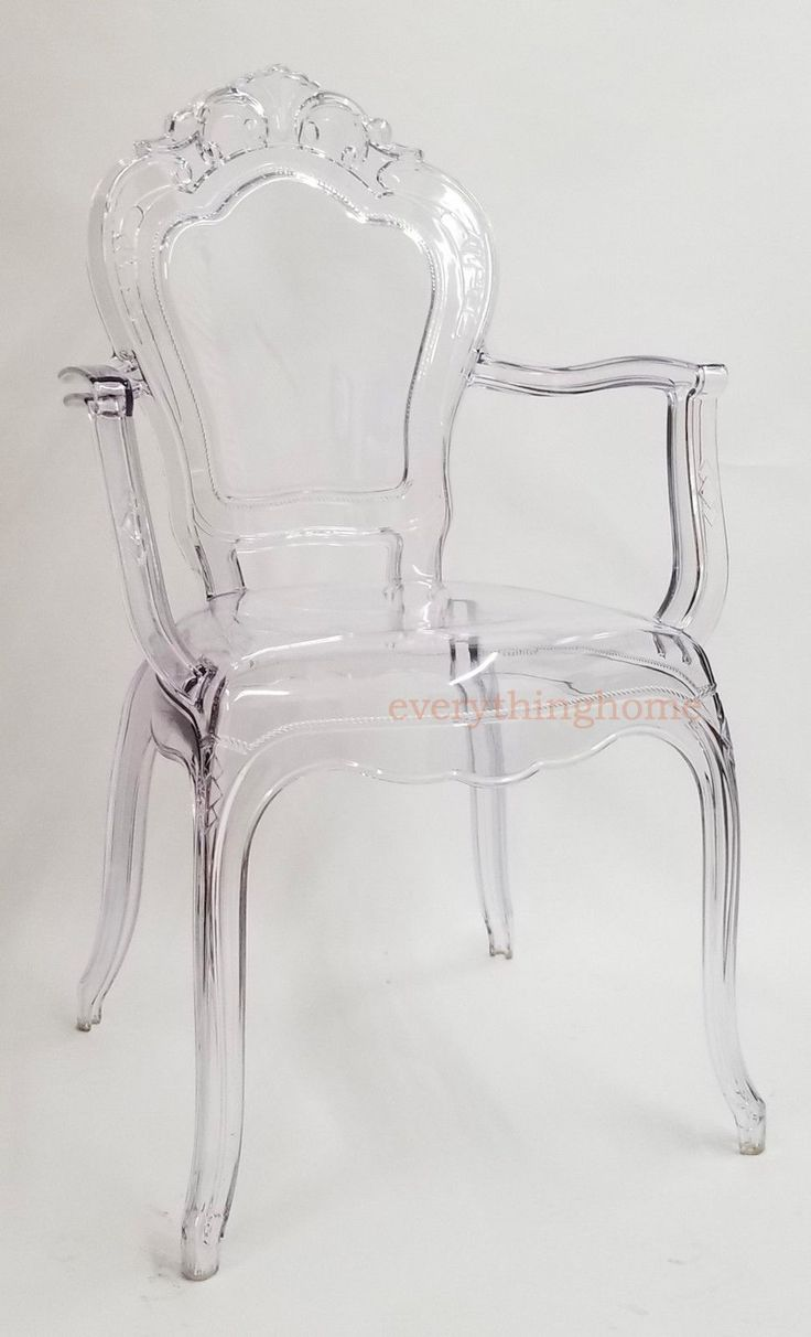 Clear transparent ghost vanity dining arm chair french