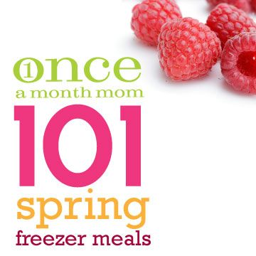 101 Spring Freezer Meal recipes !  #spring #recipes #freezermeals