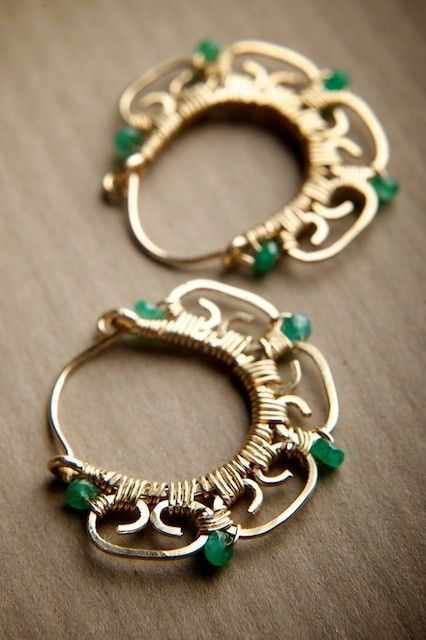I really like wire wrapping.These I would wear, so lovely.: