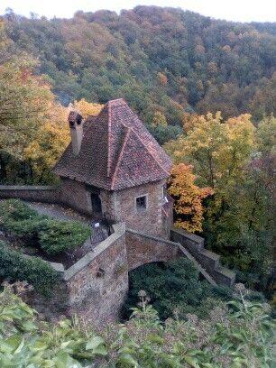 Polish autumn castle Książ