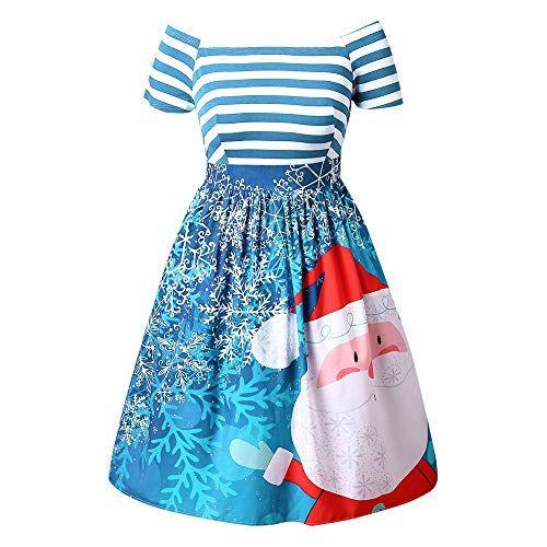 pretty nice cbf8b bbf94 LQQSTORE Kleider Damen Weihnachten Kleider Mini ...