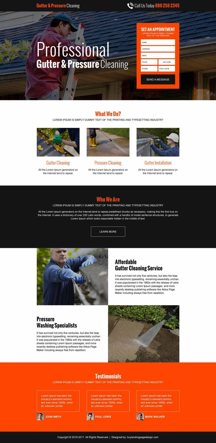 22 best images about cleaning service landing page design on Pinterest